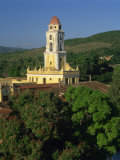 Tower of St. Francis of Assisi Convent Church in the Old Town, and Hills Behind at Trinidad, Cuba Photographic Print by Richardson Rolf