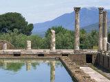 Fishpond and Portico, Villa Adriana, Hadrian's Villa, Tivoli, Lazio, Italy Photographic Print by Westwater Nedra