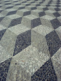 Tessallated Pavement Design from Basalt, Marble and Limestone, Praca De Sancho, Portugal, Europe Photographic Print by Westwater Nedra