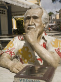 Statue of Author Jorge Amado, in Front of Cafe Vesuvio, Ilheus, Bahia, Brazil, South America Photographic Print by Richardson Rolf