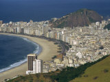 Overlooking Copacabana Beach from Sugarloaf Mountain, Rio De Janeiro, Brazil Photographic Print by Waltham Tony