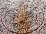 Personification of the Sea Floor Mosaic, Church of the Apostles, Madaba, Jordan, Middle East Photographic Print by Schlenker Jochen