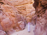 Bedouin Man in the Colored Canyon, Near Nuweiba, Sinai, Egypt, North Africa, Africa Photographic Print by Schlenker Jochen
