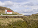 Helgafell Church Near Stykkisholmur, Snaefellsnes Peninsula, Iceland, Polar Regions Photographic Print by Pitamitz Sergio