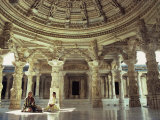 Interior of Vimal Vasahi Temple Built in the 11th Century, Mount Abu, Rajasthan State, India Photographic Print by Wilson John Henry Claude