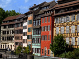 Timbered Buildings, La Petite France Canal, Strasbourg, Alsace, France, Europe Photographic Print by Richardson Peter