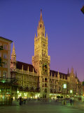 Town Hall at Night in the City of Munich, Bavaria, Germany, Europe Photographic Print by Scholey Peter