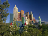 Copy Statue of Liberty and the New York New York Hotel and Casino, Las Vegas, Nevada, USA Photographic Print by Tomlinson Ruth