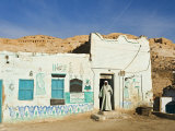 Painted House, Gurna Village, West Bank, Thebes, Middle Egypt, Egypt, North Africa, Africa Photographic Print by Schlenker Jochen