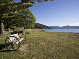 Seat at Furneaux Lodge, Marlborough Sounds, South Island, New Zealand, Pacific Photographic Print by Smith Don