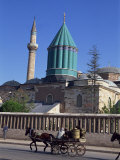 Horse and Cart Passes the Mevlana Tekke Museum, Konya, Anatolia, Turkey Photographic Print by Woolfitt Adam
