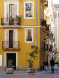Trompe L'Oeil Paintings on Facades, St. Nicolas Square, Valencia, Spain, Europe Photographic Print by Thouvenin Guy