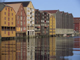 Traditional Waterfront Buildings, Trondheim, Norway, Scandinavia, Europe Photographic Print by Woolfitt Adam
