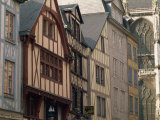 Timbered Facades in Rue Des Boucheries St. Ouen, Rouen, Seine-Maritime, Haute Normandie, France Photographic Print by Tomlinson Ruth