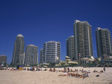 Surfers Paradise with Hotels and Apartments, Surfers Paradise, Gold Coast, Queensland, Australia Photographic Print by Wilson Ken