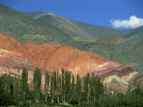 Seven Colours Mountain at Purmamaca Near Tilcara in Argentina, South America Photographic Print by Murray Louise