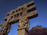One of the Four Carved Toranas at Stupa One, Sanchi, Madhya Pradesh State, India Photographic Print by Wilson John Henry Claude