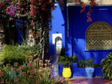 Majorelle Garden, Restored by the Couturier Yves Saint-Laurent, Marrakesh, Morocco Photographic Print by De Mann Jean-Pierre