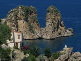 Rocks Towering in Golfo Di Castellammare, Slopello, Sicily, Italy, Europe Photographic Print by Pottage Julian