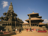 Street Scene in Durbar Square, City of Kathmandu, Nepal Photographic Print by Wilson Ken