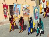 Medieval Parade of Giostra Del Saracino, Arezzo, Tuscany, Italy, Europe Photographic Print by Tondini Nico