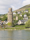Tower of Braubach, Near Koblenz, the Rhine River, Rhineland-Palatinate, Germany, Europe Photographic Print by Olivieri Oliviero
