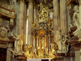 Interior and Altar of St. Nicholas Church in Prague, Czech Republic, Europe Photographic Print by Scholey Peter