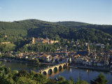 Heidelberg, Including the River Neckar and Heidelberg Castle, Baden Wurttemberg, Germany Photographic Print by Merten Hans Peter