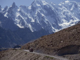 Bus on the Karakoram Highway Through the Karakoram Range, Pakistan Photographic Print by Poole David