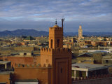 Skyline Looking Towards Middle Atlas Mountain Range, Marrakesh, Morocco Photographic Print by Short Michael
