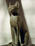 Bubastis, the Goddess of Joy, in Bronze, Cairo Museum, Cairo, Egypt, North Africa, Africa Photographic Print by Rawlings Walter
