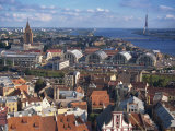City Skyline, Including the Tv Tower, Riga, Latvia, Baltic States, Europe Photographic Print by Simanor Eitan