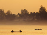 Boats on the Ayeyarwaddy River, Myanmar Photographic Print by Schlenker Jochen