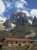 Mount Kenya and the Peaks of Nelion on the Left and Batian on Right, Kenya, East Africa Photographic Print by Poole David