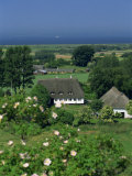 Thatched Cottages and Farmland, Aero Island, Denmark, Scandinavia, Europe Photographic Print by Woolfitt Adam