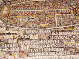 Mosaics Showing Map of Palestine, St. George Orthodox Christian Church, Madaba, Jordan, Middle East Photographic Print by Tondini Nico