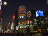 Ginza Shopping District at Dusk, Tokyo, Central Honshu, Japan Photographic Print by Schlenker Jochen