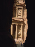 First View of Petra at the End of the Siq Entrance Gorge, Petra, Jordan, Middle East Photographic Print by Waltham Tony