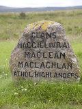 Highlanders' Grave, Culloden Battlefield, Highlands, Scotland, United Kingdom, Europe Photographic Print by Richardson Rolf