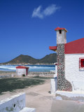 Detail of a Coastal Cottage, Calhau, Sao Vicente, Cape Verde Islands, Atlantic, Africa Photographic Print by Renner Geoff
