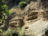 Typhoon Tombs, Etruscan Necropolis of Sovana, Sovana, Grosseto, Tuscany, Italy, Europe Photographic Print by Tondini Nico