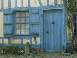 Ancient Timbered House with the Date of 1691 Carved Above Doorway, Gerberoy, Oise, Picardie, France Photographic Print by Tomlinson Ruth