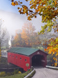 Covered Bridge at West Arlington, Vermont, New England, United States of America, North America Photographic Print by Edwardes Guy