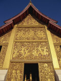 Longboat Shed at Wat Xieng Thong at Luang Prabang, Laos, Indochina, Southeast Asia Photographic Print by Traverso Doug