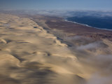Aerial of Atlantic Ocean Coastline, Skeleton Coast Park, Namibia, Africa Photographic Print by Milse Thorsten