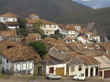 Houses with Tiled Roofs in the Town of Ouro Preto in Brazil, South America Photographic Print by Sassoon Sybil