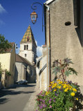 Village of Couchey, with Distinctive Tiled Steeple, Bourgogne, France, Europe Photographic Print by Renner Geoff