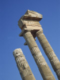Detail of Columns of the Rhodes Acropolis at Monte Smith, Rhodes, Dodecanese, Greek Islands, Greece Photographic Print by Teegan Tom