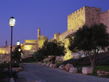 Walls Promenade and Tower of David at Dusk, Jerusalem, Israel, Middle East Photographic Print by Simanor Eitan