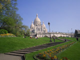 Sacre Coeur, Montmartre, Paris, France, Europe Photographie par Rainford Roy
